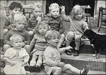Wartime evacuees at Denewood Grange, Batheaston 24 August 1944