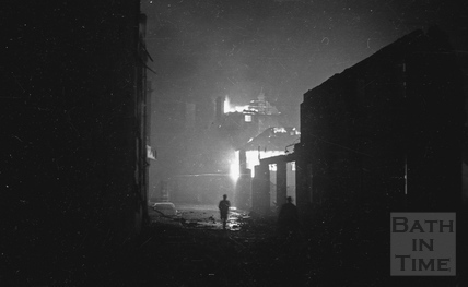 Drama on the streets during the Bath Blitz, April 1942