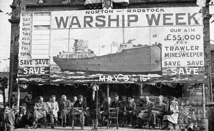 The stage at Norton - Radstock Wartime Week, 1940s
