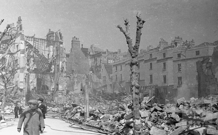 Bomb damage, possibly near Julian Road, April 1942