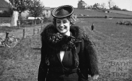 An unknown VIP complete with fox wrap, 1940s