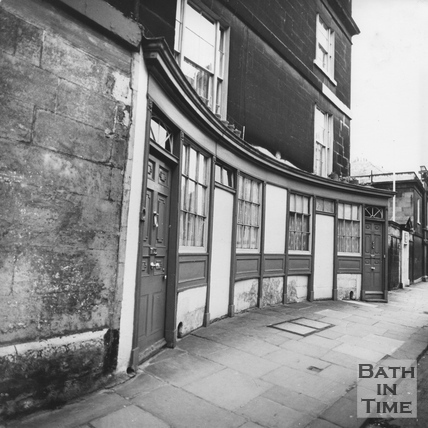 Concave fronted shop window, Walcot Street, March 1972