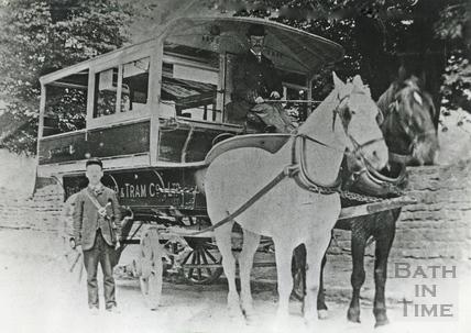 A Horse Tram from the Bath Road Car & Tram Co c.1890