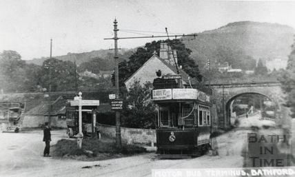 Motor Bus Terminus, Bathford c.1930
