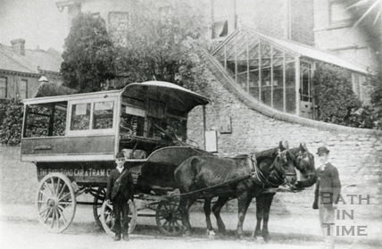 A Horse Tram from the Bath Road Car & Tram Co, Newbridge Road c.1890
