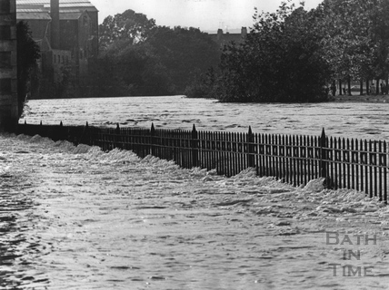 Looking across the river from Lower Bristol Road, July 1968