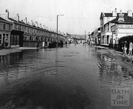 Floods in Lower Bristol Road, July 1968