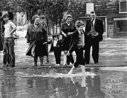 Paddling by on Lower Bristol Road, July 1968