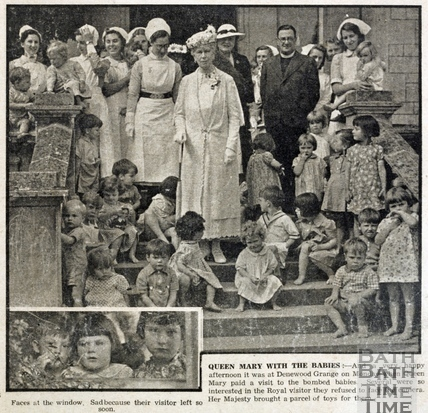 Queen Mary with the babies 1941