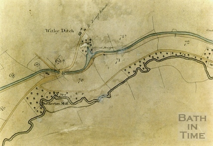 A Plan of the Somersetshire Coal Canal - Withy Ditch 1812 - detail