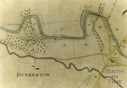 A Plan of the Somersetshire Coal Canal - Dunkerton 1812 - detail