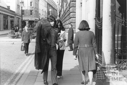 Mick Jagger and his girlfriend Bianca 1971