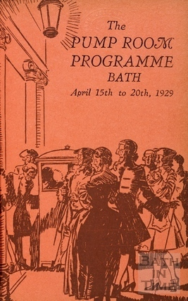 Cover to the Pump Room Programme, April 15th to 20th, 1929