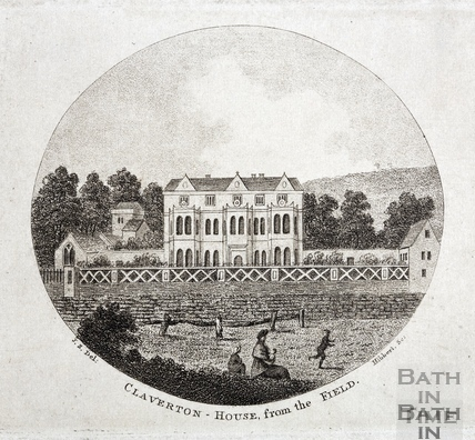 Claverton House, from the field c.1796