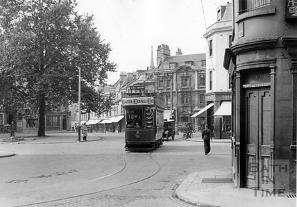 Tram number 3 at Kingsmead Square 1935