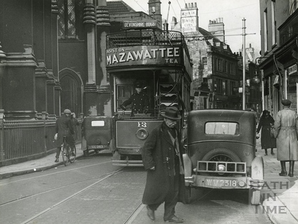 Electric tram, Walcot Street c.1930