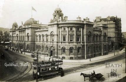 The Guildhall and High Street c.1915