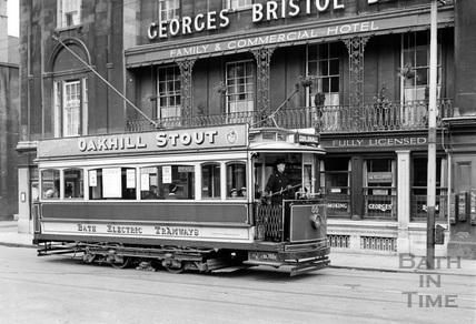 Electric tram in Dorchester Street 1935