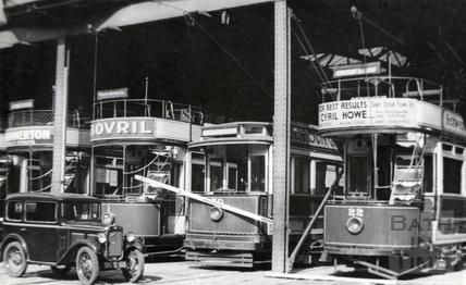The tramshed in Beehive Yard c.1935