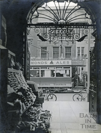 Entrance to Bath Market and view to the High Street 1925