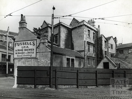The entrance to the tramshed and Beehive Yard, rear of Walcot Street c.1930s