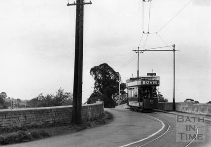 Tram number 22 crossing the New Bridge 1935