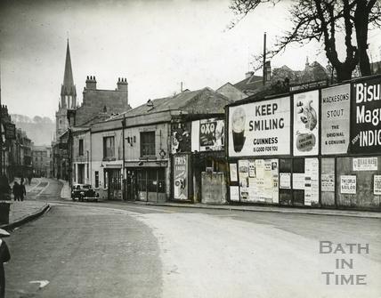 Advertising hoardings along Walcot Street c.1950s