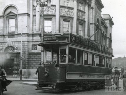 Tram car no 5 in the High Street c.1935