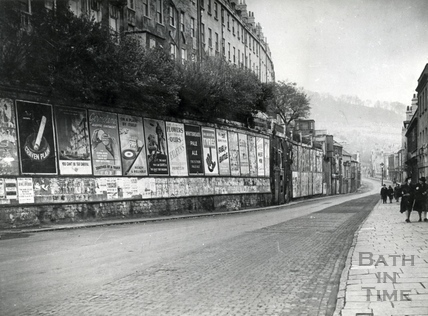 Advertising hoardings along Walcot Street c.1950s