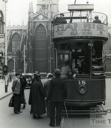 Electric tram, High Street 1925