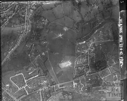 1942 Aerial Photograph of the area now occupied by the Foxhill Estate with Combe Down April