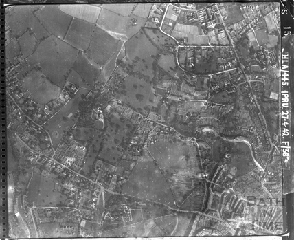 1942 Aerial Photograph of Lansdown Crescent and the land to the west April