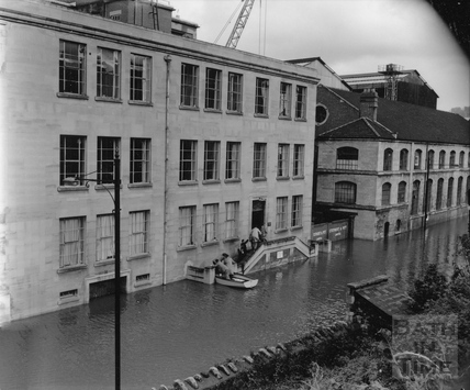 Stothert & Pitt flood scenes, Newark Works 29 October 1960