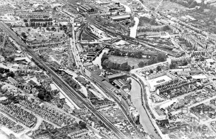 c.1950s Aerial view of Stothert & Pitt Newark Works