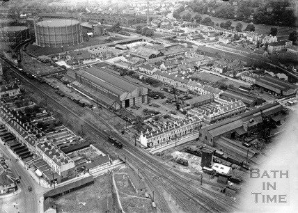 c.1936 Aerial view of Stothert & Pitt Victoria Works