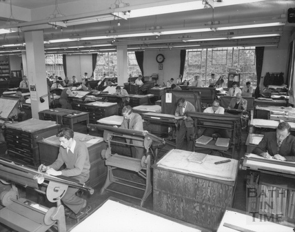 The drawing office at Stothert & Pitt. 20 Sept 1956