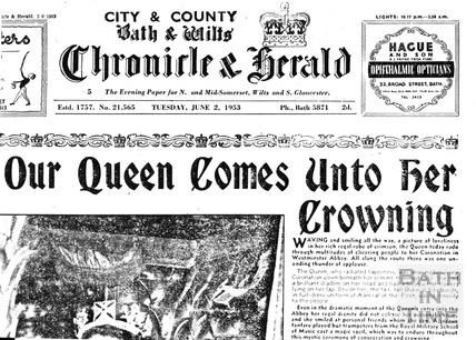 City & County Bath & Wilts Chronicle & Herald June 2 1952