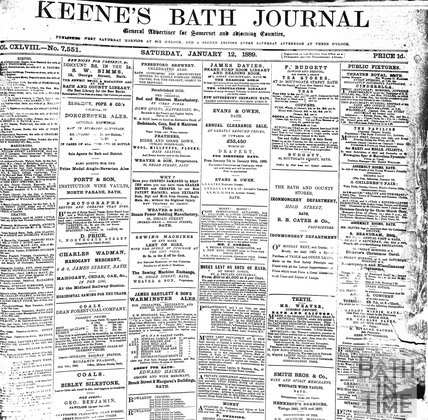 Keene's Bath Journal Jan 12 1889
