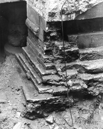 Excavations under the Pump Room, 21 Jan 1980