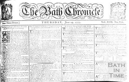 The Bath Chronicle, June 19 1777