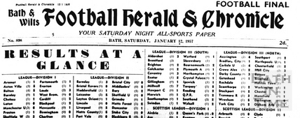 Bath & Wilts Football Herald & Chronicle Jan 12 1957