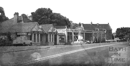 The Green Lantern Cafe and Garage, Bathford 19 July 1971