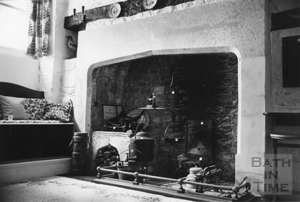 The fireplace in Batheaston House 10 June 1974
