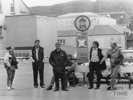 Pickets during the Post Office Strike 5 Sept 1988