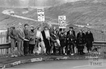 Local residents protest against the bypass and link road 13 November 1995