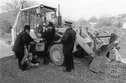 Policemen remove protesters from a digger 21 May 1994