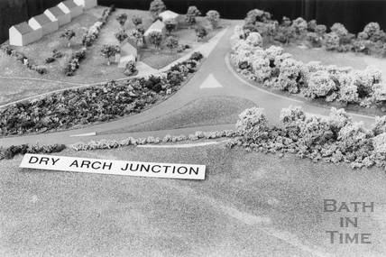 Dry Arch junction, Bathampton, where the proposed A36 / A46 link road meets 15 November 1990