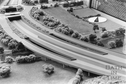 The River Avon bridge prior to the London Road roundabout on the Batheaston bypass 15 November 1990