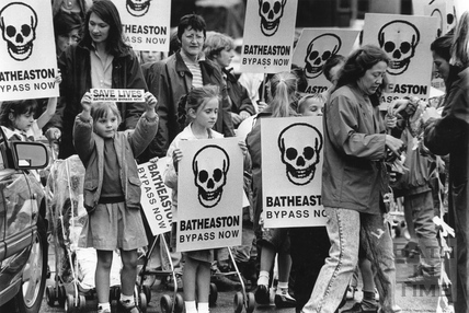 Batheaston Bypass protesters 6 June 1990