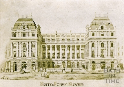 Architects design for the Grand Pump Room Hotel c.1865